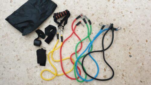 Elastike za vadbo z različnim uporom (5x) FLEX photo review