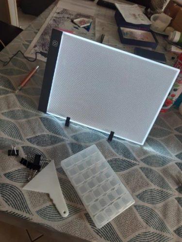 LED tablica za risanje in ustvarjanje s kristali KRYSTAL photo review